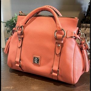 NWOT Dooney & Bourke Small Pebble Leather in Coral